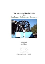 Die technische Performance des Hamburger Robotischen Teleskops