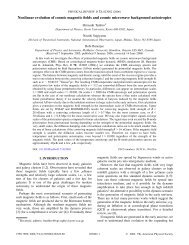 Nonlinear evolution of cosmic magnetic fields and cosmic ...