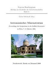 Astronomisches Mäzenatentum - Hamburger Sternwarte ...