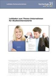 Leitfaden zum Thema Unternehmen für ... - Hochschule 21