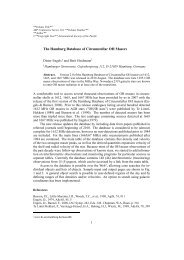 The Hamburg Database of Circumstellar OH Masers - Hamburger ...