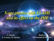 X-ray physics with FLASH and its effect on the IMF