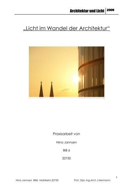 Licht im Wandel der Architektur