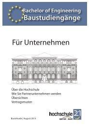 Factsheets für Partnerunternehmen in den dualen ... - Hochschule 21