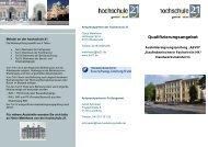 Flyer zu Qualifizierungsangeboten - Hochschule 21