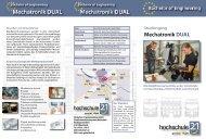 Flyer Studiengang Mechatronik DUAL - Hochschule 21