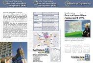 Bau- und Immobilienmanagement DUAL - Hochschule 21
