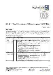 """51.10 """"Energieberatung im Nichtwohnungsbau ... - Hochschule 21"""