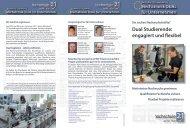 Dual Studierende: engagiert und flexibel - Hochschule 21
