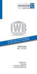 März - Juni 2012 Fortbildung in Bauwesen ... - Hochschule 21