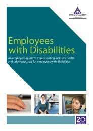 Employees with Disabilities - Health and Safety Authority