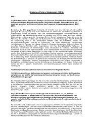 ERASMUS Policy Statement - Hochschule 21