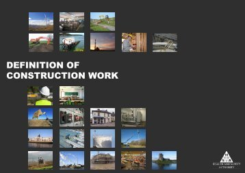 Definition of construction work - Health and Safety Authority