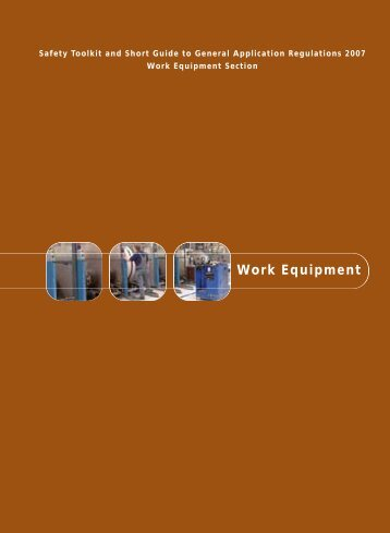 Work Equipment - Health and Safety Authority