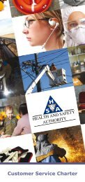 Customer Service Charter - Health and Safety Authority