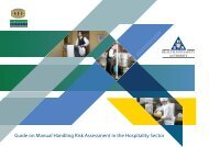 Guide on Manual Handling Risk Assessment in the Hospitality Sector