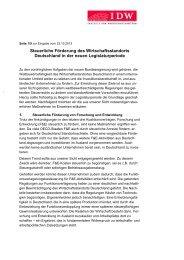 Eingabe Koalitionsverhandlung 2013 - IdW