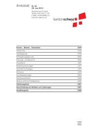 Amtsblatt Nr. 26 vom 28. Juni 2013 (260 KB), S. 1457 - Kanton Schwyz