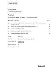 Protokoll [PDF, 362 KB] - Stadt Baden