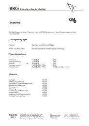 Preisliste 2013 - Ersatzteile - BBG Bootsbau Berlin GmbH
