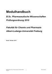 Modulhandbuch - Albert-Ludwigs-Universität Freiburg