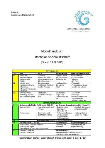 Modulhandbuch SW - Hochschule Kempten