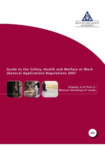 (General Application) Regulations: Manual Handling - Health and ...