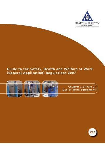 Guide to the Safety, Health and Welfare at Work (General ...