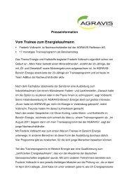 Dokument als PDF speichern - AGRAVIS Raiffeisen AG