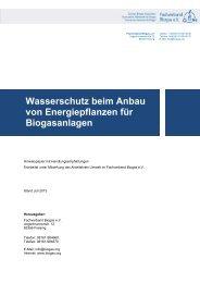 13-07-11_Papier Gewässerschutz_end.pdf - Fachverband Biogas e.V.