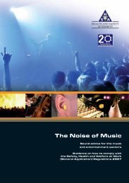 The Noise of Music.pdf - Health and Safety Authority