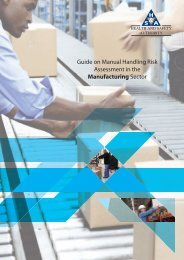 guide on manual handling risk assessment in the manufacturing sector
