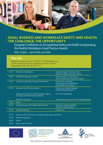 Conference Agenda - Health and Safety Authority