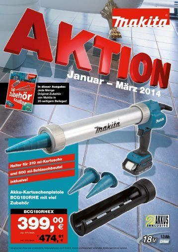 Makita Aktion Januar-März 2014