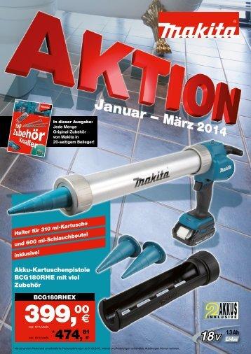 Makita Aktion Januar-März 2014