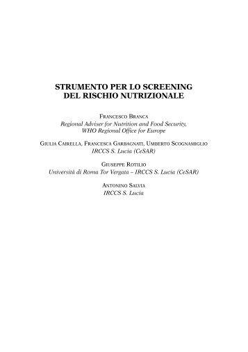 strumento per lo screening del rischio nutrizionale - Fondazione ...