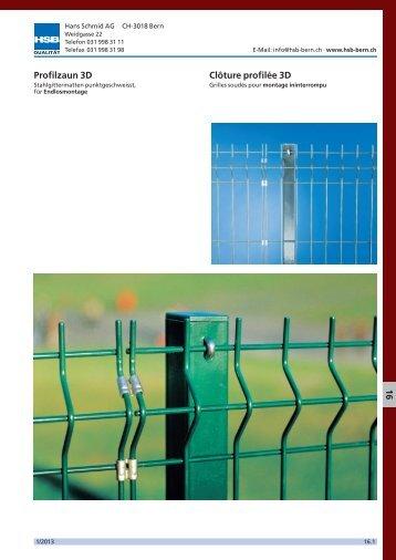 16. Clôture 3D/Grilles de clôtures à double fils - Hans Schmid AG
