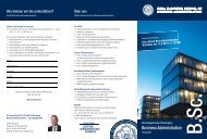 Flyer: Berufsbegleitender Bachelor Business Administration ... - HSBA
