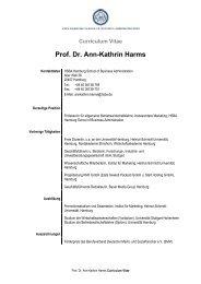 Curriculum Vitae Prof. Dr. Ann-Kathrin Harms - HSBA