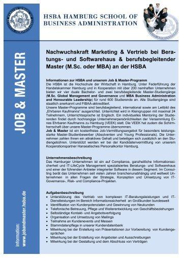 Nachwuchskraft Marketing & Vertrieb bei Beratungs - HSBA