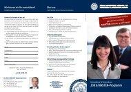 Informationen für Unternehmen JOB & MASTER-Programm ... - HSBA