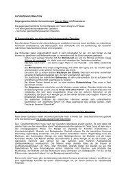 PATIENTENINFORMATION Gegengeschlechtliche Hormontherapie ...