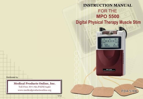 Digital Physical Therapy Muscle Stim MPO 5500