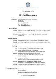 Dr. Jan Ninnemann - HSBA Hamburg School of Business ...