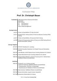Prof. Dr. Christoph Bauer - HSBA Hamburg School of Business ...