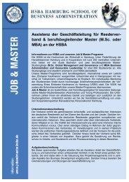 Assistenz der Geschäftsleitung für großen Verband - HSBA