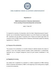 Regulation of for the awarding of Deutschlandstipendien ... - HSBA