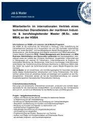 Mitarbeiter im internationalen Vertrieb der maritimen Industrie