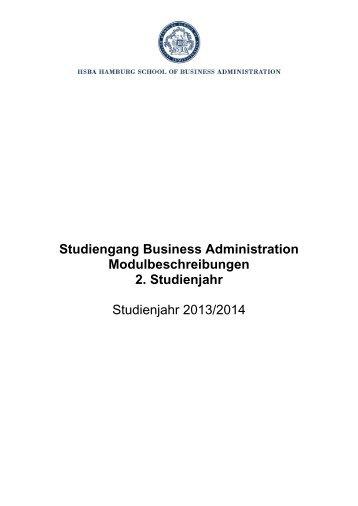 Modulbeschreibungen 2. Studienjahr (Jahrgang 2012) Download