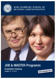 Aktueller Job & Master-Kandidatenkatalog - HSBA